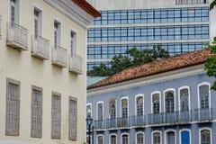 Architecture coloniale et moderne dans le sao Luis, Brésil images stock