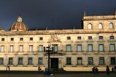 Architecture coloniale. La Colombie. Image stock