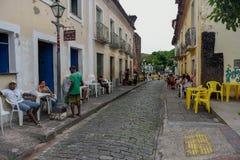 Architecture coloniale portugaise traditionnelle dans le sao Luis sur le Br?sil photo stock