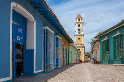 Architecture colorée au Trinidad - site de patrimoine mondial de l'UNESCO Photographie stock libre de droits