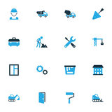 Architecture Colorful Icons Set. Collection Of Maintenance, Paint Roller, Paint And Other Elements. Also Includes. Architecture Colorful Icons Set. Collection Of Stock Image