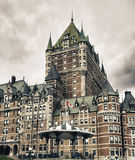 Architecture and Colors of Quebec City Stock Image