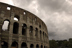 Architecture Colosseum. The femous colosseum in Rome in a rainy day royalty free stock photography
