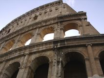 Architecture of the Colosseum. Close up of Ancient Rome Colosseum Stock Photo