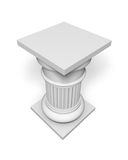 Architecture column. Antique white object Royalty Free Stock Photography