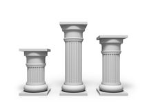 Architecture column. Antique white object Royalty Free Stock Images