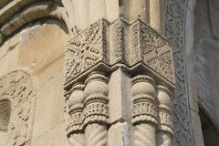 Architecture. Column pillar stanchion temple church carving ancientry Georgia arch archway decor tracery stock photos
