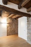 Architecture, comfortable loft. Empty room with door Royalty Free Stock Photography