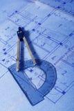 Architecture concept plan Stock Photos