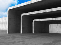 Architecture Concrete Geometric Abstract Background. 3d Render Illustration stock illustration