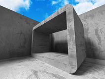 Architecture Concrete Geometric Abstract Background. 3d Render Illustration Stock Photography