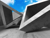 Architecture Concrete Geometric Abstract Background. 3d Render Illustration Royalty Free Stock Photography
