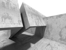 Architecture Concrete Geometric Abstract Background. 3d Render Illustration Royalty Free Stock Photos