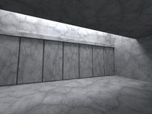 Architecture concrete walls construction background. Empty room. 3d render illustration stock illustration