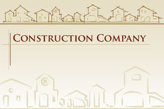 Architecture - construction company. Project card Template classic style - Vector illustration stock illustration