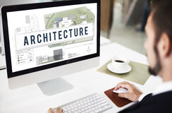 Architecture Construction Design Real Estate Residential Concept Stock Image