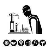 Architecture, construction project management Stock Images