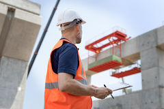 Architecture Construction Safety First Career Concept Stock Image