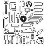 Architecture and construction tool icons set. Royalty Free Stock Photos