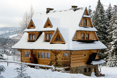 Architecture contemporaine de Zakopane Images libres de droits