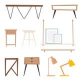 Architecture contemporaine plate de meubles de concept de décor de maison d'appartement de conception intérieure de pièce de vect Photos libres de droits