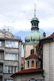 Architecture contrasts in  Prague Royalty Free Stock Images