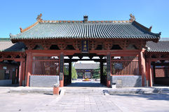 Architecture and courtyard in Chinese temple Royalty Free Stock Images