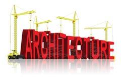 Architecture creative building blueprint architect. Architecture, tower cranes constructing 3d word creating blueprint creative building architect engineering vector illustration