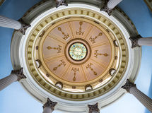 Architecture in Cuba: Cupola in Vintage building Stock Photography