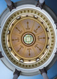 Architecture in Cuba: Cupola in Vintage building Royalty Free Stock Photo