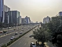 Architecture of Cyber City / Cyberhub in Gurgaon, New Delhi, India. Architecture of Cyber City / Cyberhub in Gurgaon / Gurugram, New Delhi, India royalty free stock photos
