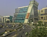 Architecture of Cyber City / Cyberhub in Gurgaon, New Delhi, India. Architecture of Cyber City / Cyberhub in Gurgaon / Gurugram, New Delhi, India stock images