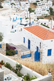 Architecture on the Cyclades. Greek Island buildings with her ty Royalty Free Stock Photography