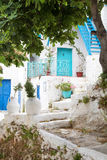 Architecture on the Cyclades. Greek Island buildings with her ty Stock Image