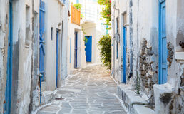 Architecture on the Cyclades. Greek Island buildings with her ty Stock Photos