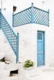 Architecture on the Cyclades. Greek Island buildings with her ty Royalty Free Stock Image