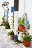 Architecture on the Cyclades. Greek Island buildings with her ty Stock Images