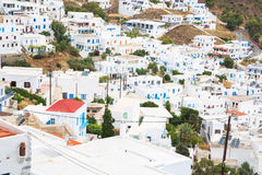 Architecture on the Cyclades. Greek Island buildings with her ty Stock Photo