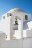 Architecture on the Cyclades. Here church with stepple bell with Stock Photography