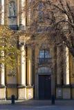 Architecture d'église à Varsovie Images libres de droits