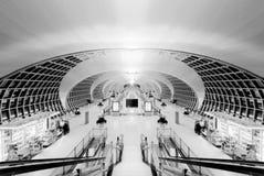Architecture d'aéroport de Bangkok Photos stock