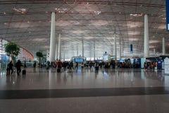 Architecture d'aéroport international capital de Pékin en Chine Photographie stock libre de droits