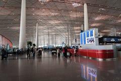 Architecture d'aéroport international capital de Pékin en Chine Image stock