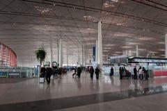 Architecture d'aéroport international capital de Pékin en Chine Photo libre de droits