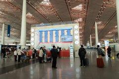 Architecture d'aéroport international capital de Pékin en Chine Image libre de droits