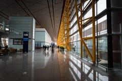Architecture d'aéroport international capital de Pékin en Chine Images libres de droits