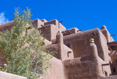 Architecture d'adobe de Santa Fe Photo stock