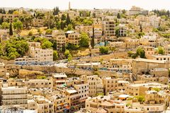 Architecture d'Amman, Jordanie Images libres de droits