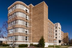 Architecture d'Art Moderne/Deco - sanatorium de Silvercrest - nouvel Albany, Indiana Images stock