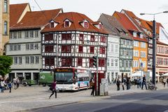 Architecture d'Erfurt, Allemagne image stock